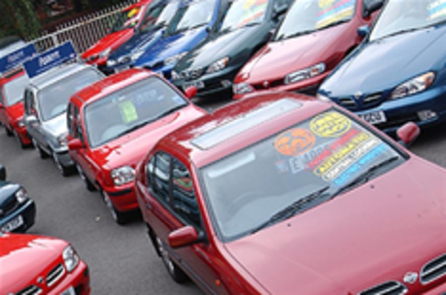 Used car sales crash in 2008