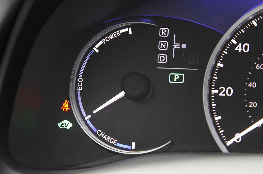 Lexus CT200h Eco speedo