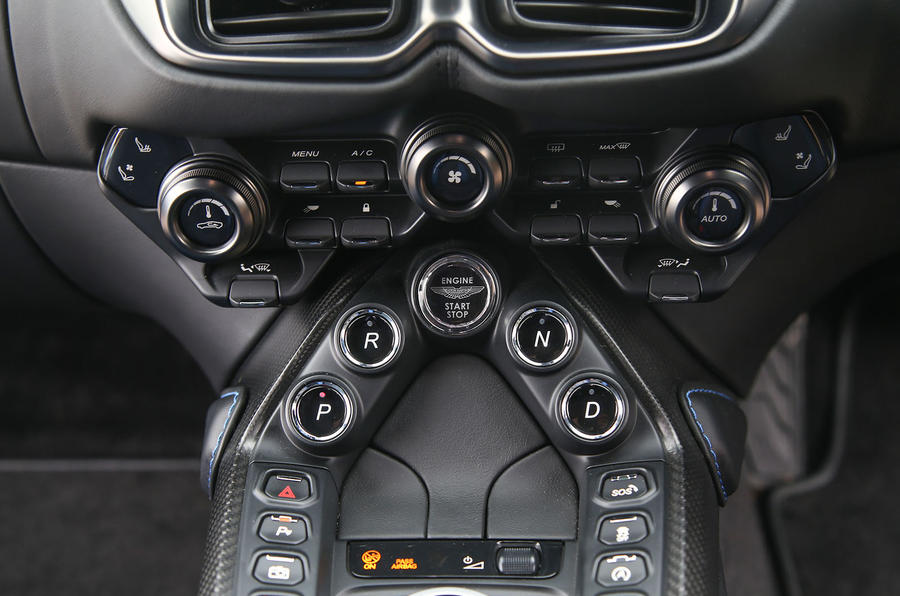 Aston Martin Vantage 2018 review centre console