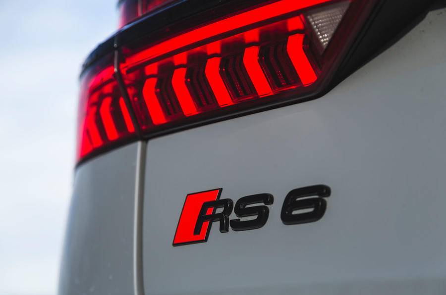 Audi RS6 Avant 2020 road test review - rear badge