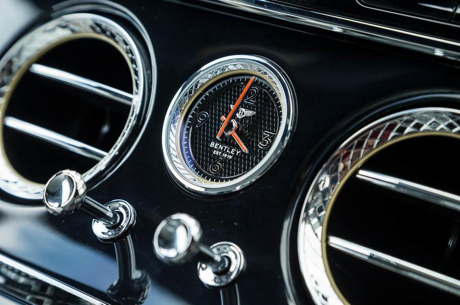 Bentley Continental GT 2018 Autocar road test review clock
