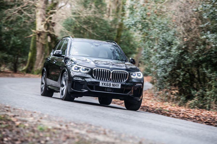 BMW X5 2018 road test review - cornering front