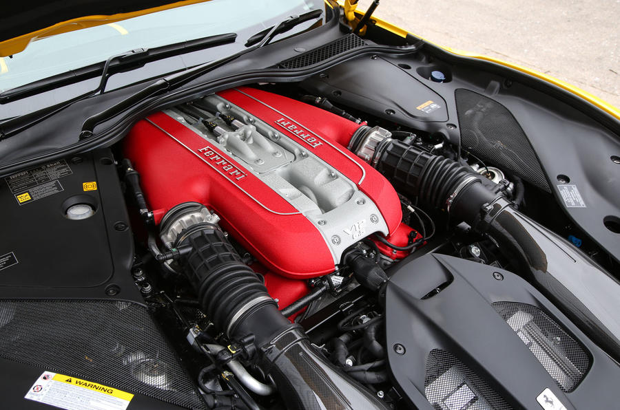 Ferrari 812 Superfast 2018 road test review engine