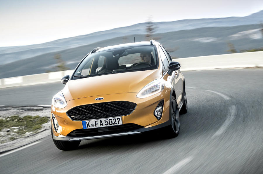 Ford Fiesta Active 2018 road test review cornering front