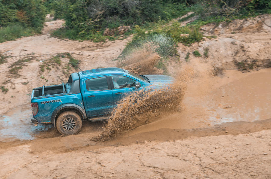 Ford Ranger Raptor 2019 road test review - splash