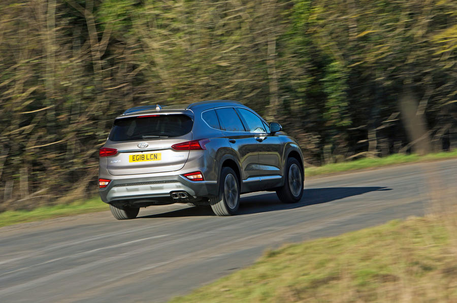 Hyundai Santa Fe 2019 road test review - on the road rear