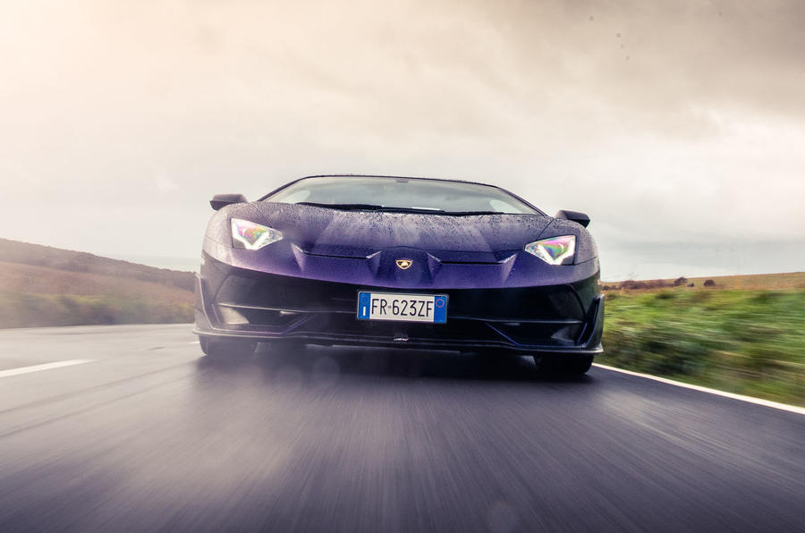 Lamborghini Aventador SVJ 2019 road test review - on the road nose