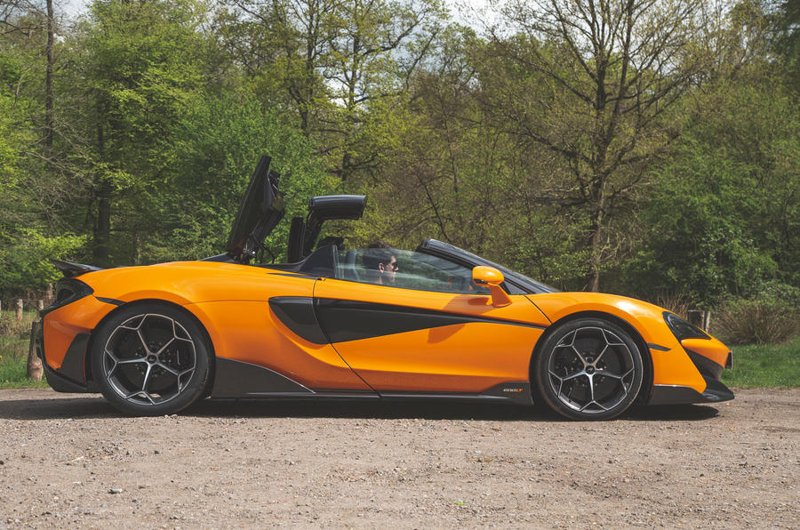 McLaren 600LT Spider 2019 road test review - roof
