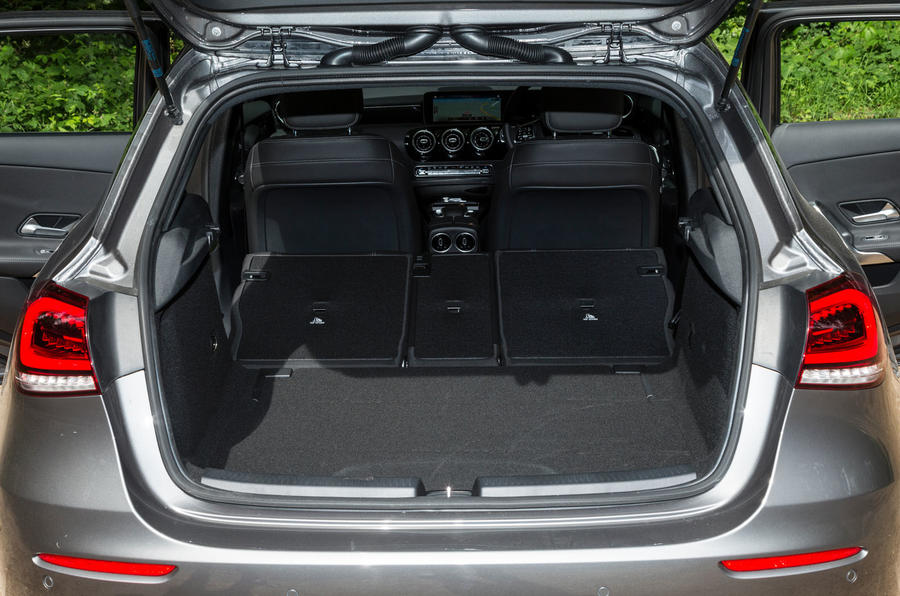 Mercedes-Benz A-Class 2018 road test review boot space seats down