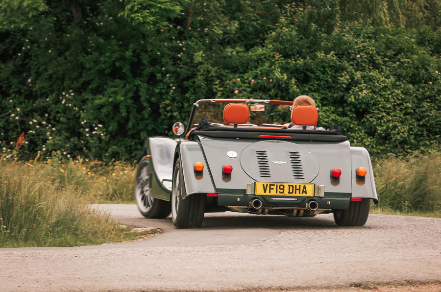 Morgan Plus Six 2019 road test review - cornering rear