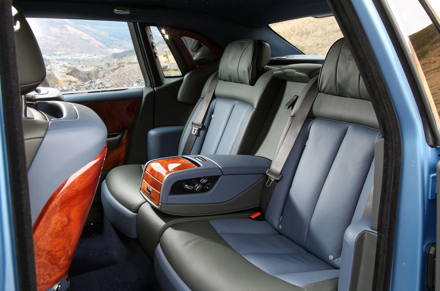 Rolls Royce Phantom 2018 review rear seats