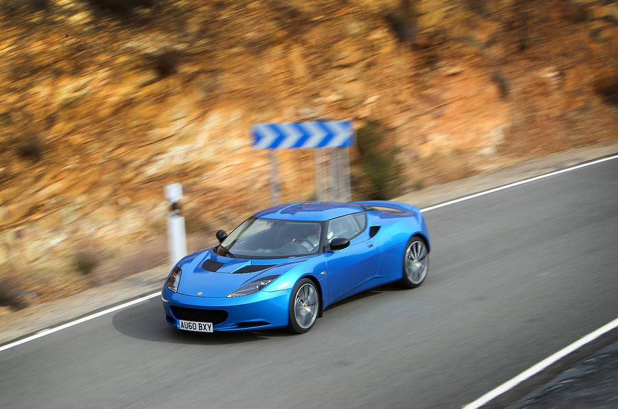 Lotus Evora S on the road