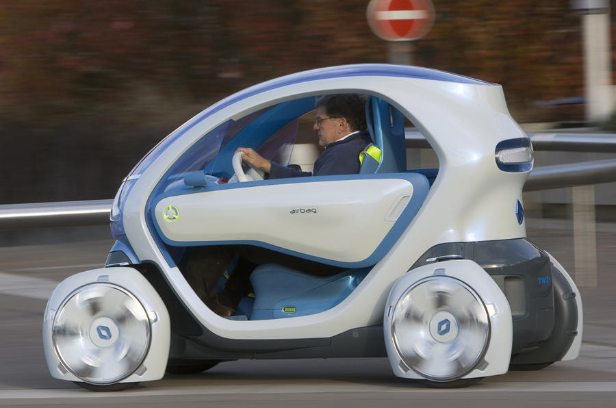 Renault Twizy Z.E. Concept on the road