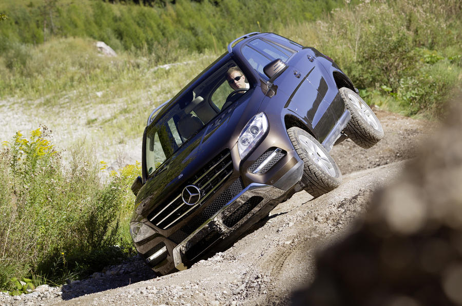 Mercedes-Benz ML 350 off-roading