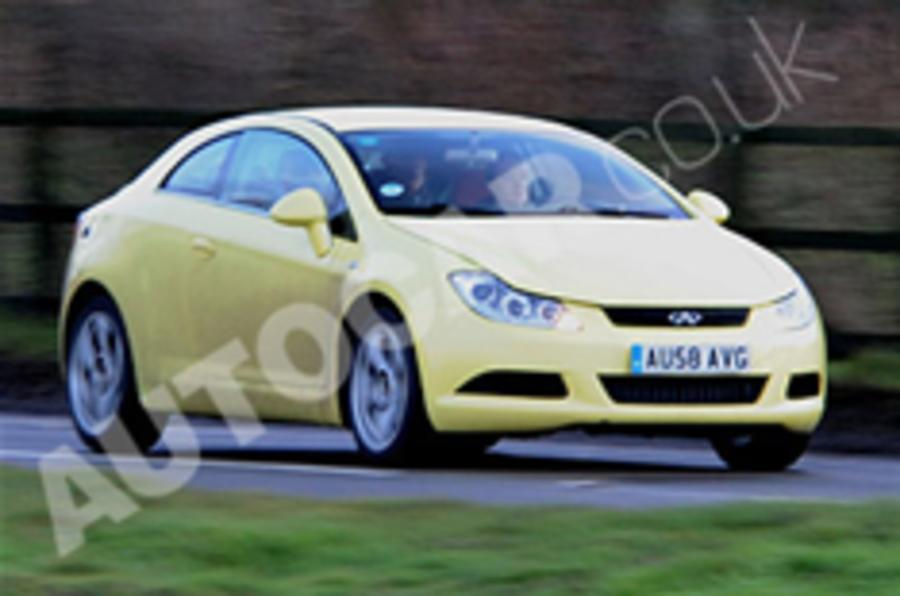 Chery A6 spied with Lotus