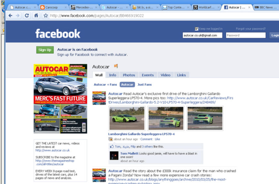 Follow Autocar on Facebook