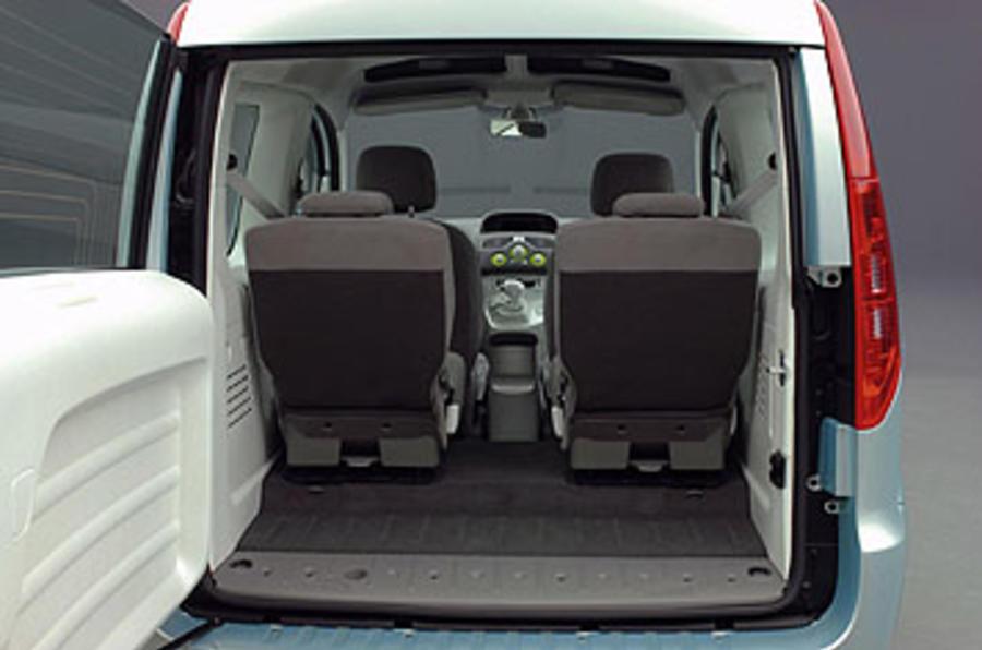 Renault Kangoo Be Bop Z.E. 44kW boot space