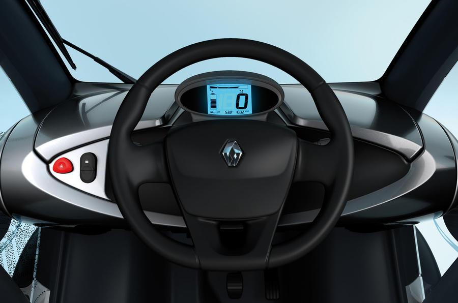 Renault Twizy EV dashboard