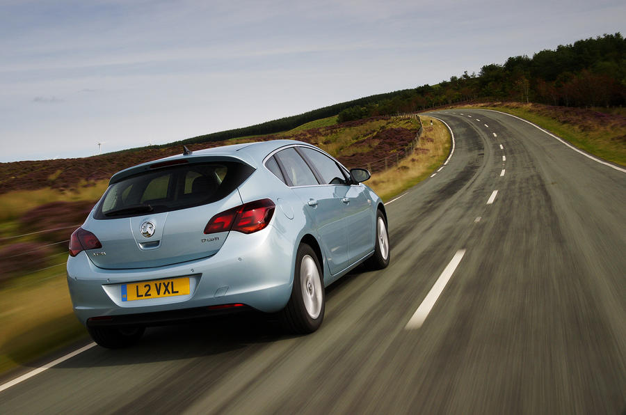 Vauxhall Astra on road