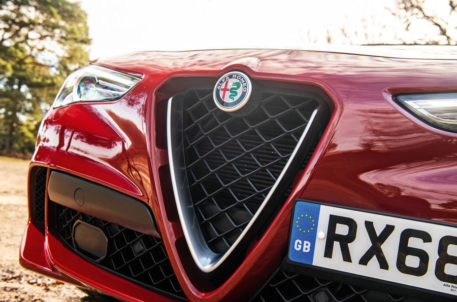 Alfa Romeo Stelvio Quadrifoglio 2019 road test review - nose