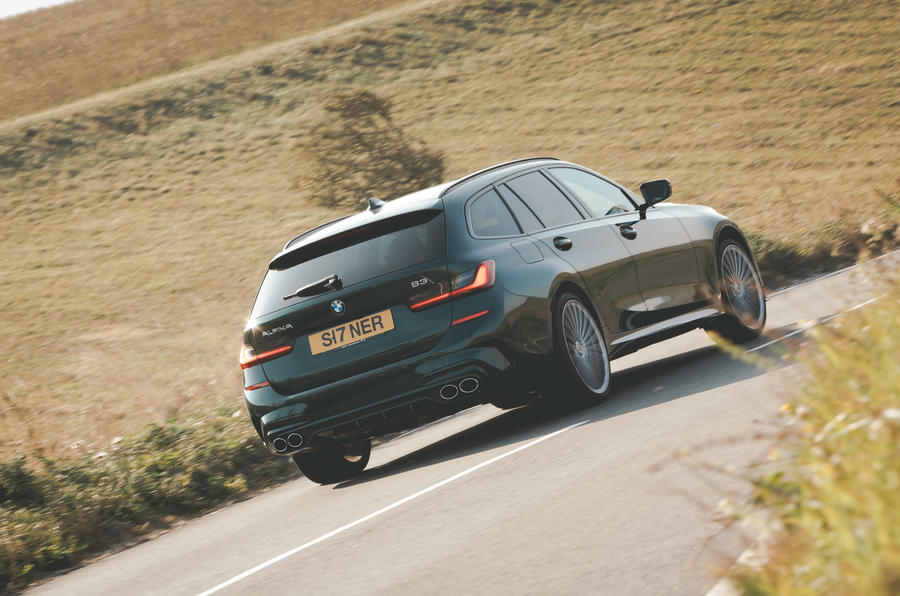 Alpina B3 Touring 2020 road test review - hero rear