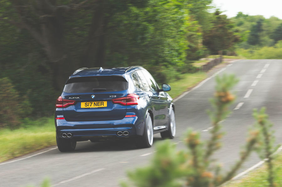 Alpina XD3 2019 UK road test review - hero rear