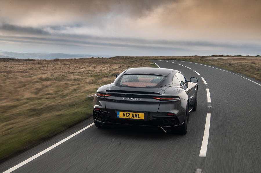 Aston Martin DBS Superleggera 2018 road test review - hero rear