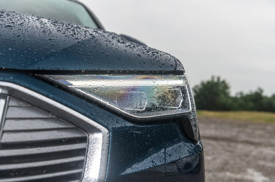 Audi E-tron 55 Quattro 2019 road test review - headlights