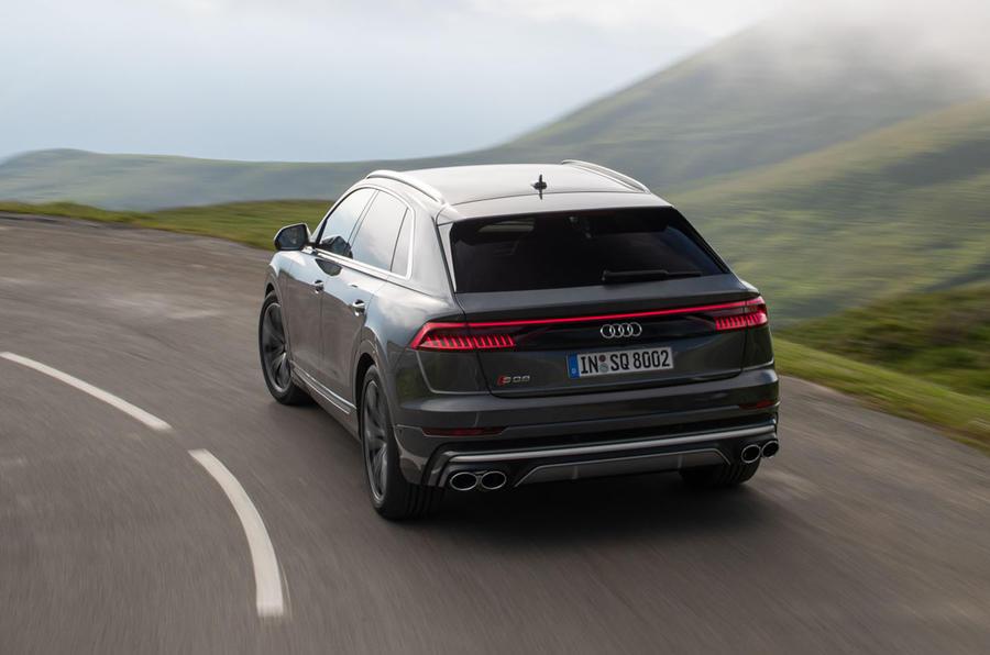 Audi SQ8 2019 road test review - hero rear