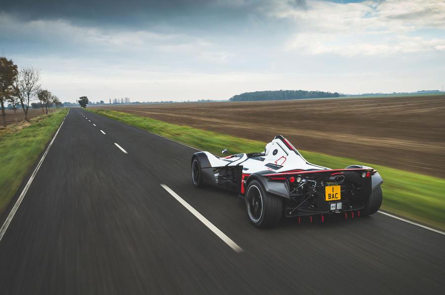 BAC Mono 2018 review - hero rear