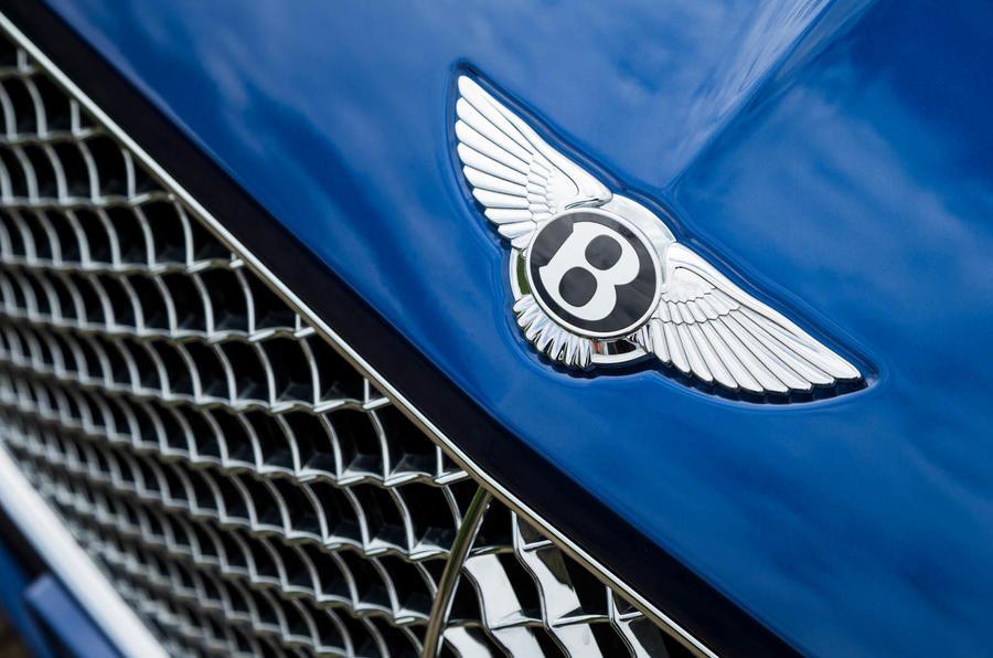 Bentley Continental GT 2018 Autocar road test review bonnet badge