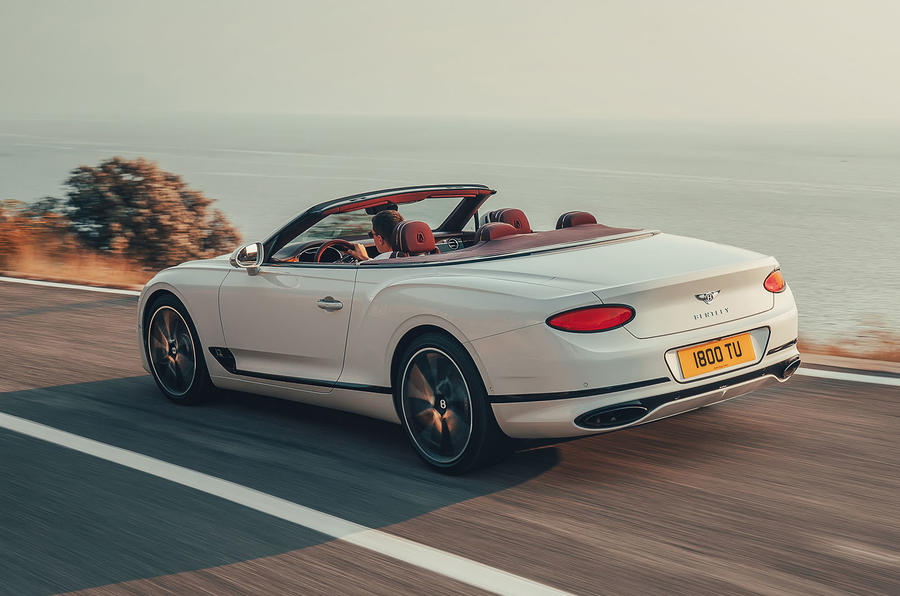 Bentley Continental GTC 2019 first drive review - hero rear
