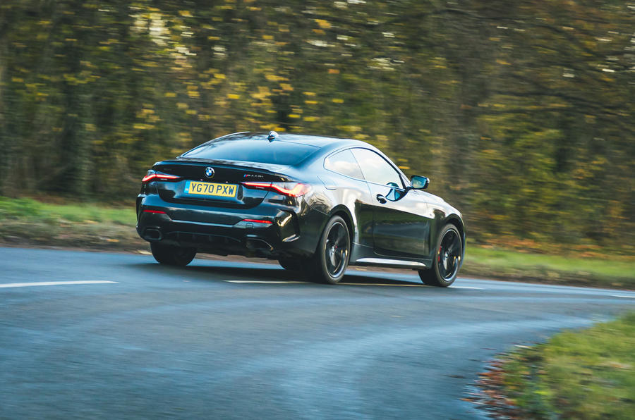 3 BMW 4 Series M440i road test review 2021 hero rear
