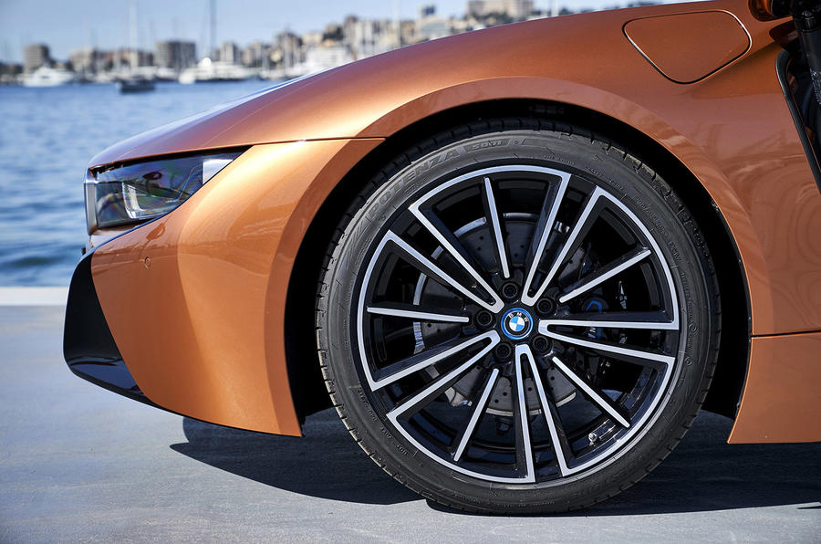 BMW i8 Roadster 2018 review alloy wheels