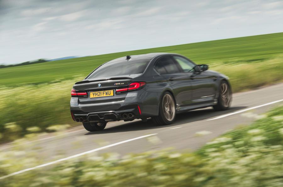 3 BMW M5 CS 2021 RT héros arrière