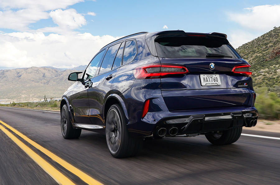 BMW X5 M Competition 2020 road test review - hero rear