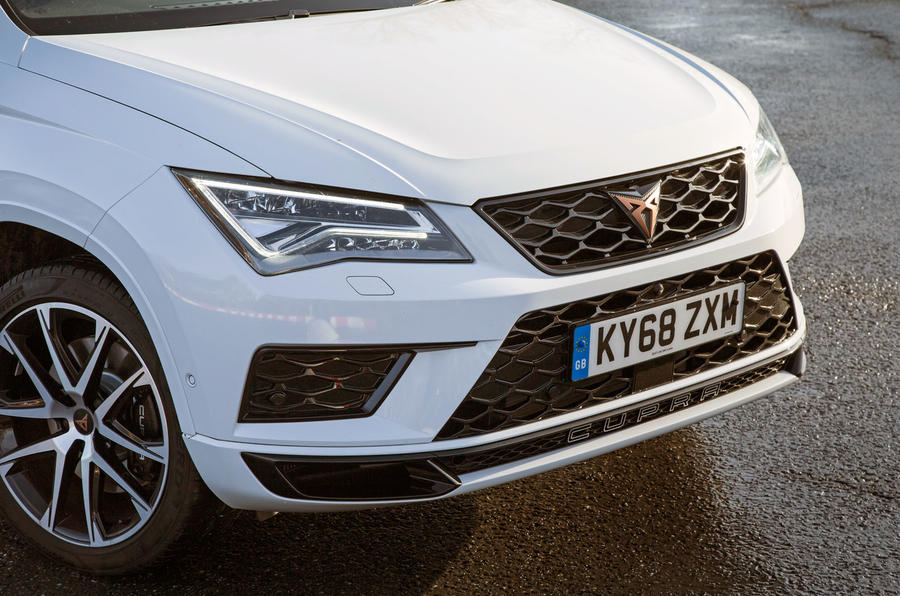 Cupra Ateca 2019 road test review - front bumper