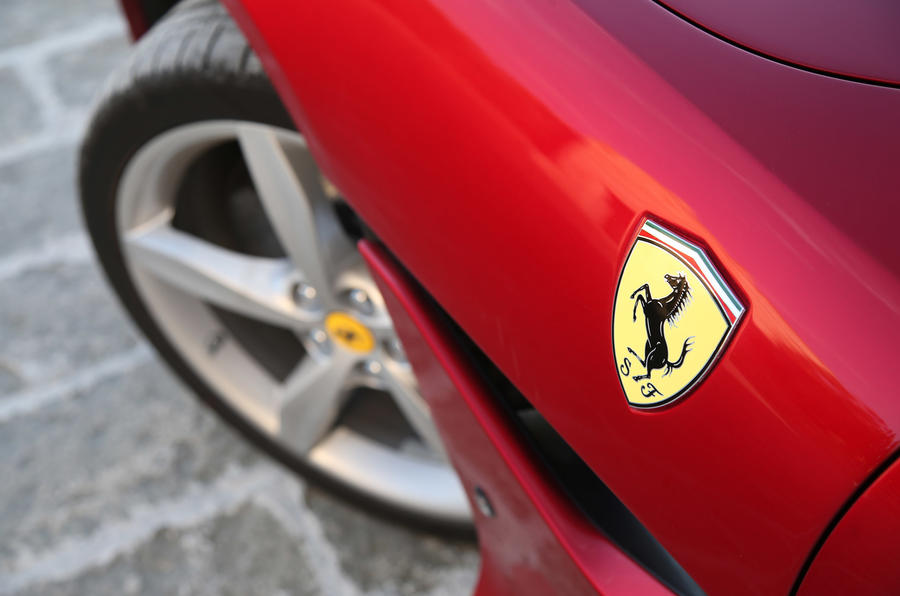 Ferrari Portofino review Ferrari badge