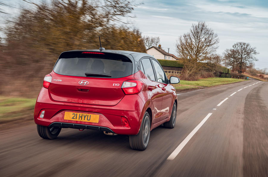 Hyundai i10 2020 road test review - hero rear