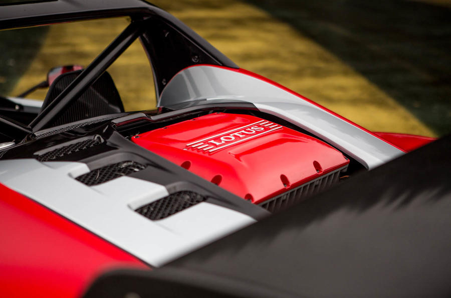 Lotus 3-Eleven 430 review engine cover