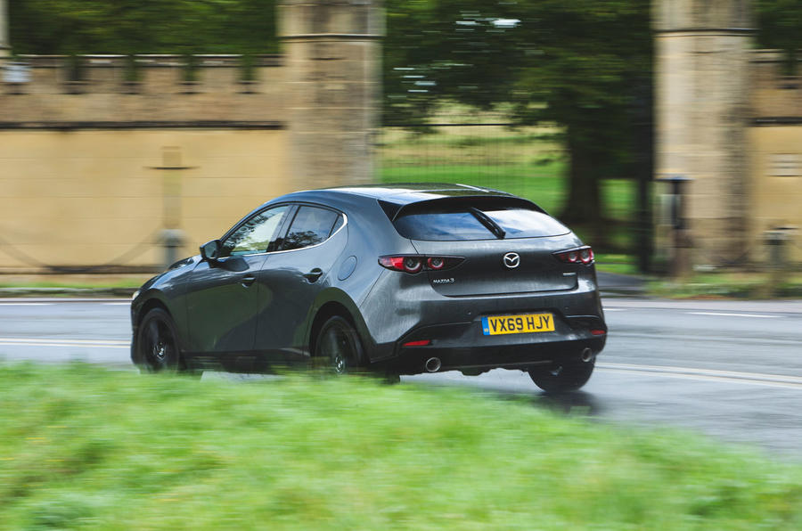 Mazda 3 Skyactiv-X 2019 road test review - hero rear