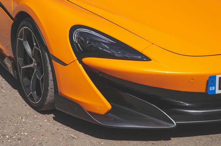 McLaren 600LT Spider 2019 road test review - headlights
