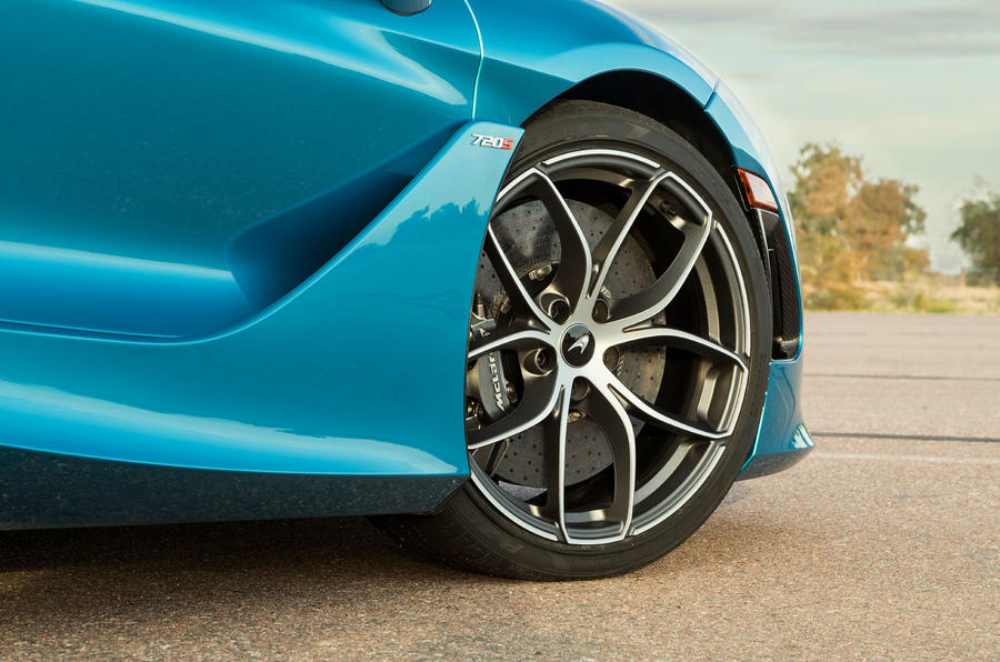McLaren 720S Spider 2019 road test review - alloy wheels