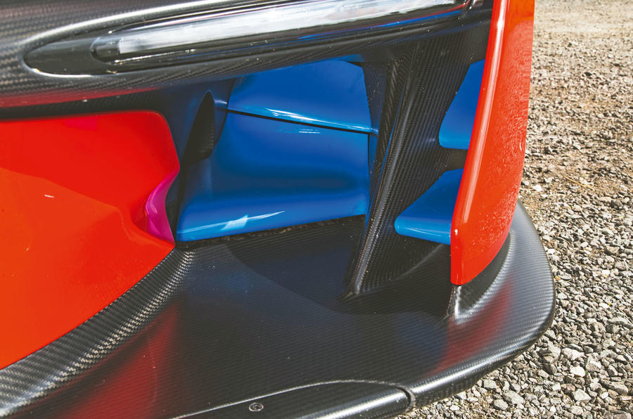 McLaren Senna 2018 road test review - front bumper aero