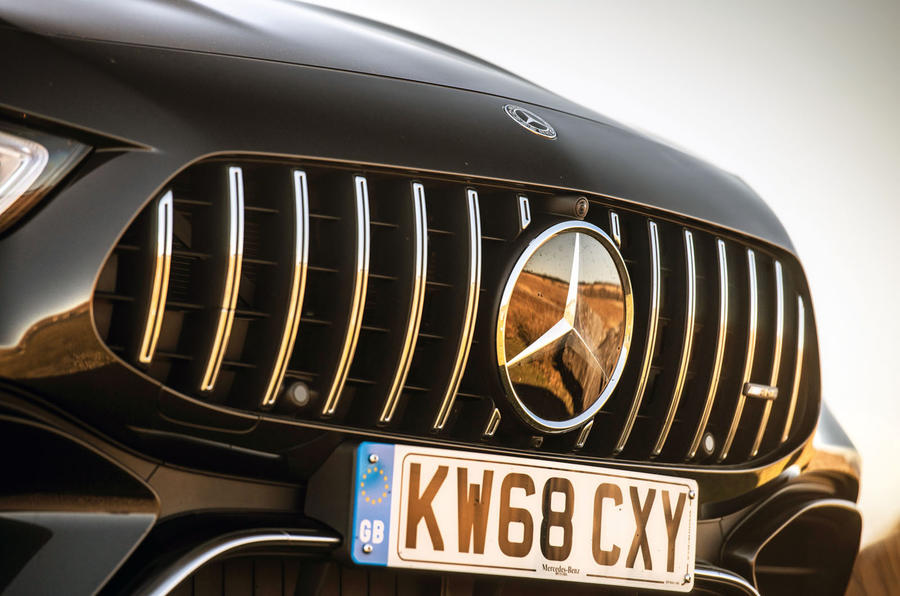 Mercedes-AMG GT four-door Coupé 2019 road test review - panamerica grille
