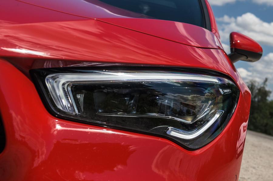 Mercedes-Benz CLA 2019 road test review - headlights