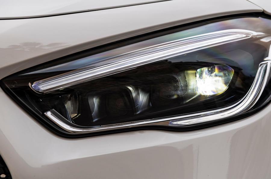 Mercedes-Benz GLA 2020 road test review - headlights