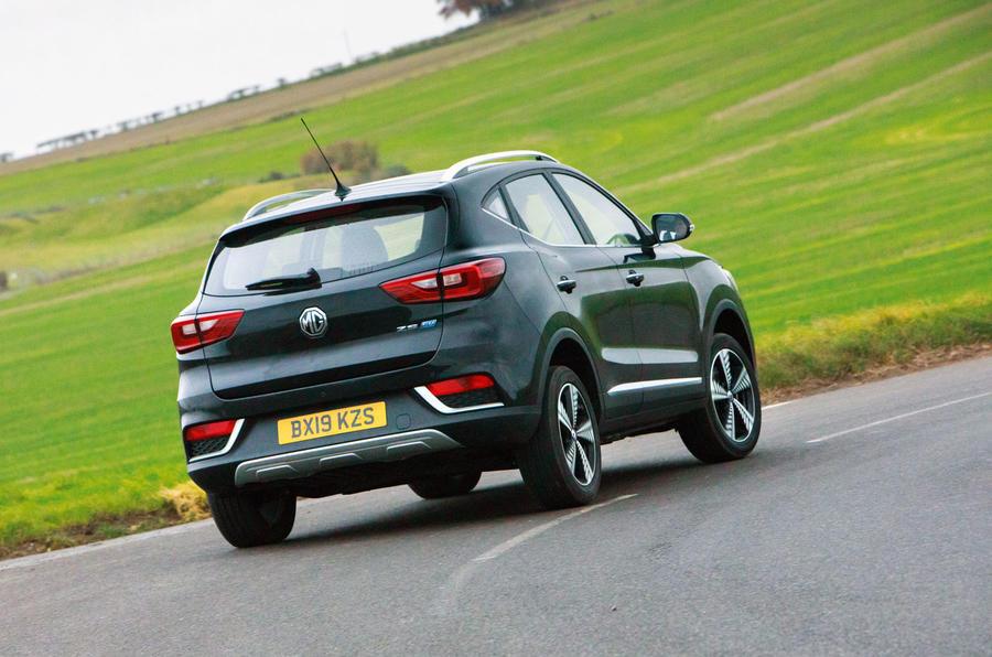 MG ZS EV 2019 road test review - hero rear