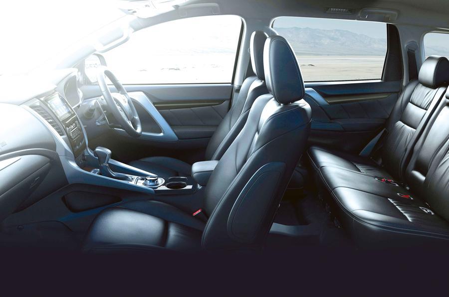 Mitsubishi Shogun Sport 2018 road test review cabin