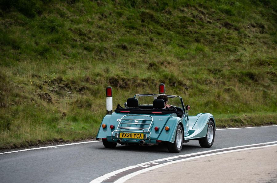 Morgan Plus Four 2020 road test review - hero rear
